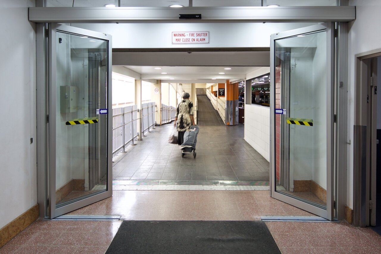 Automatic single sliding doors - Products By Record Automatic Doors Feature Quite Prominently Throughout Broadway Shopping Centre Including A Tsa 20 Telescopic Single Sliding Door To The